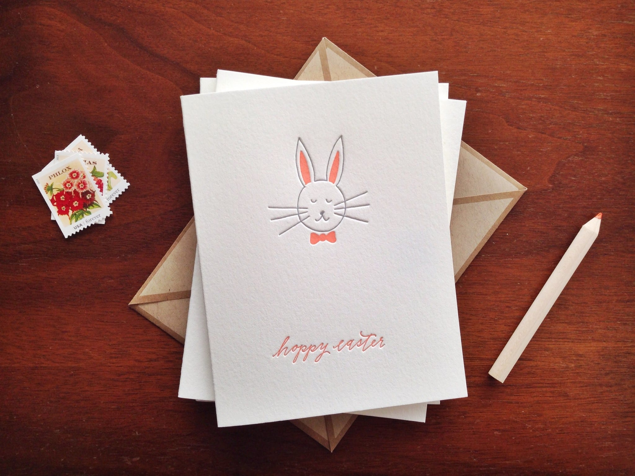 IMP-4003-S - Hoppy Easter Letterpress Card Set | INK MEETS PAPER