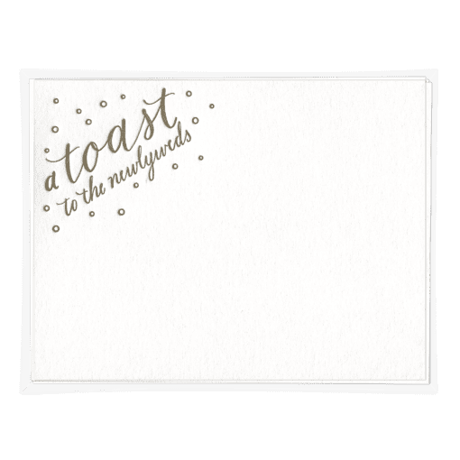 A Toast Wedding Advice Card