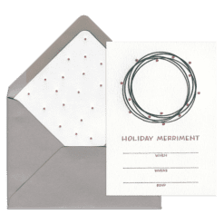 Holiday Merriment Fill-in Invitation