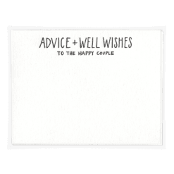 Advice & Well Wishes Wedding Advice Card
