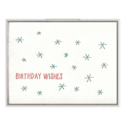 Birthday Wishes Letterpress Greeting Card