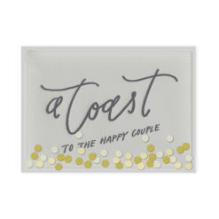 Confetti Toast Letterpress Card Packaged