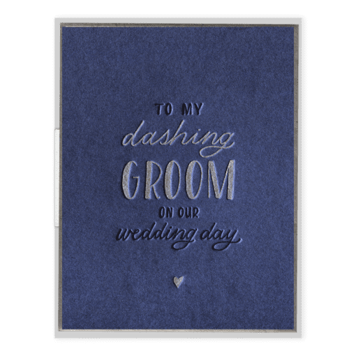 Dashing Groom Letterpress Greeting Card