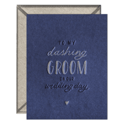 Dashing Groom Letterpress Greeting Card with Envelope
