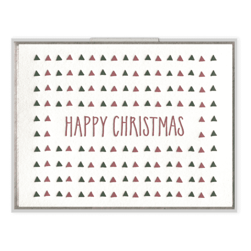 Happy Christmas Letterpress Greeting Card