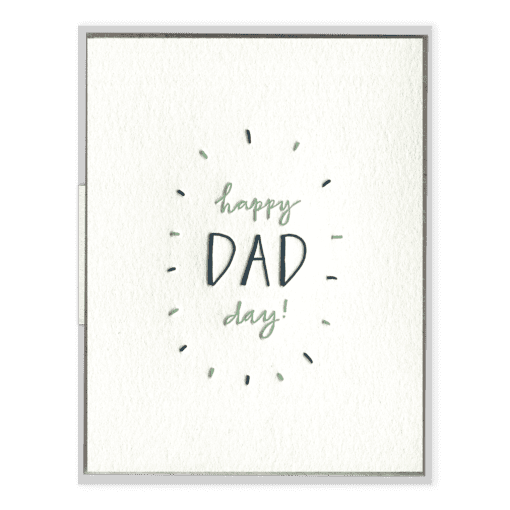 Happy Dad Day Letterpress Greeting Card