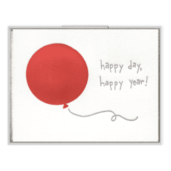 Happy Day, Happy Year Letterpress Greeting Card