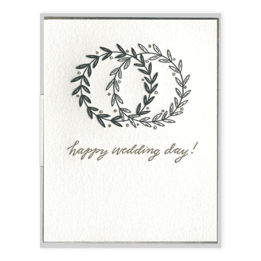 Happy Wedding Day Letterpress Greeting Card