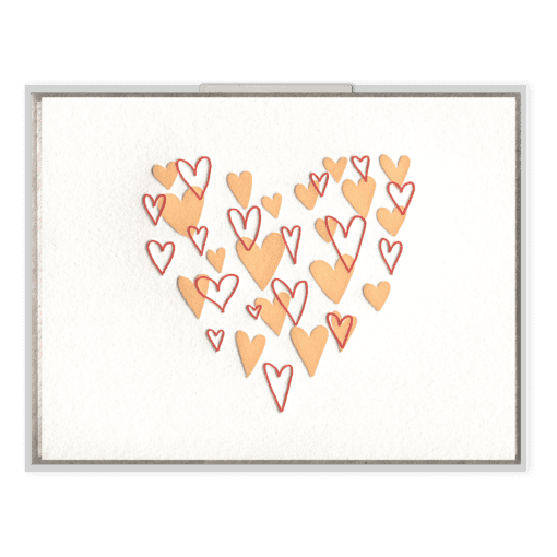 Heart of Hearts Letterpress Greeting Card