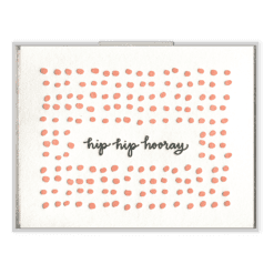 Hip Hip Hooray Letterpress Greeting Card