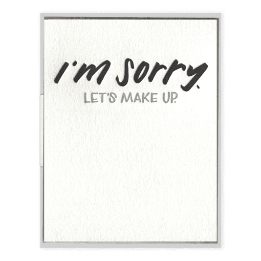 I'm Sorry Letterpress Greeting Card
