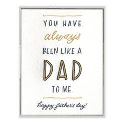 Like a Dad Letterpress Greeting Card