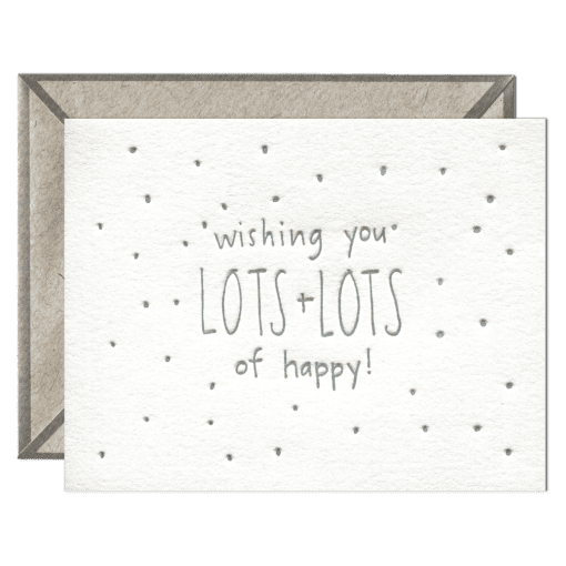 Lots of Happy Letterpress Greeting Card