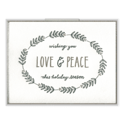 Love & Peace Letterpress Greeting Card