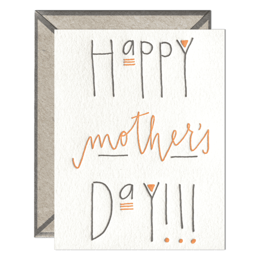Mother's Day Letterpress Greeting Card with Envelope