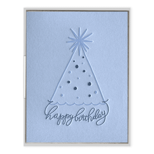 Party Hat Birthday Letterpress Greeting Card