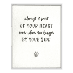 Pet Sympathy Letterpress Greeting Card