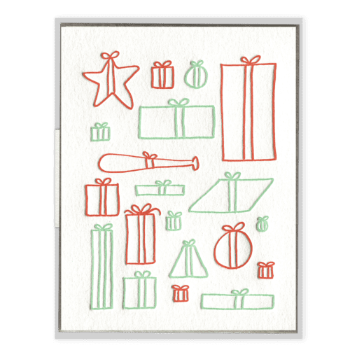 Presents Letterpress Greeting Card
