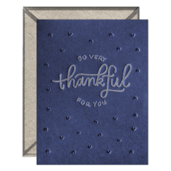 So Very Thankful Letterpress Greeting Card with Envelope
