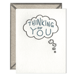 Thinking of You Bubble Letterpress Greeting Card with Envelope