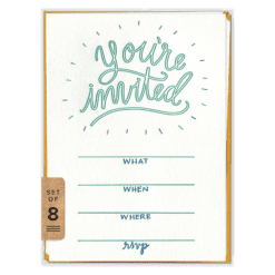 You're Invited Fill-in Invitation Set (front)