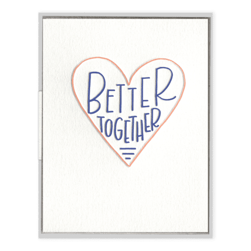 Better Together Letterpress Greeting Card