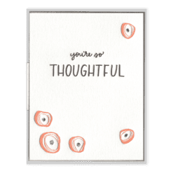 Thoughtful Poppies Letterpress Greeting Card