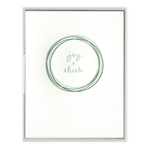 Joy + Cheer Letterpress Greeting Card