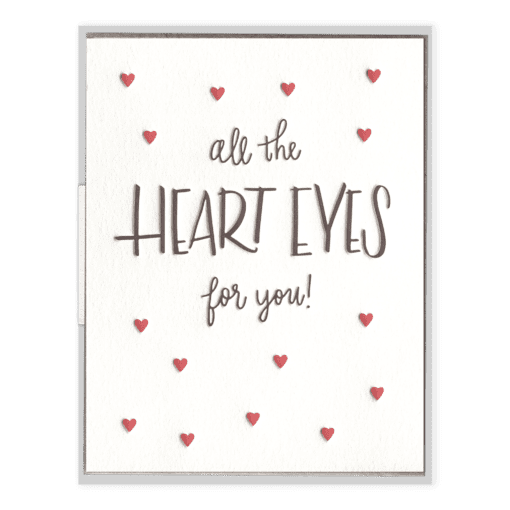 Heart Eyes Letterpress Greeting Card