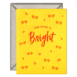 Future is Bright Letterpress Greeting Card with Envelope