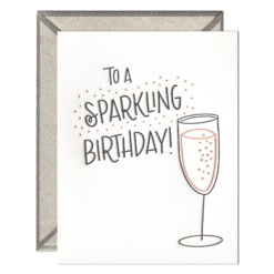 Sparkling Birthday Letterpress Greeting Card with Envelope