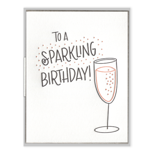 Sparkling Birthday Letterpress Greeting Card
