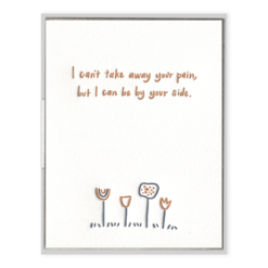 By Your Side Flowers Letterpress Greeting Card