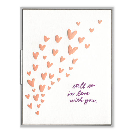 Still So In Love With You Letterpress Greeting Card